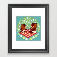 Picknick Bears Framed Art Print