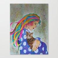Love Flows Canvas Print
