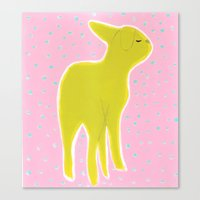 Canvas Print featuring Little Lamb Standing by christivincent