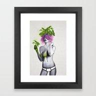 Garden Girls 1 - Basil Framed Art Print
