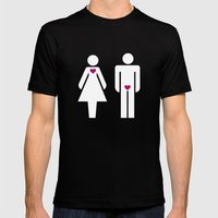 Men & Women Mens Fitted Tee Black SMALL