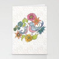 Blue Bird Garden Stationery Cards