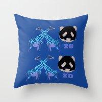 XOXO Wild Animals Throw Pillow