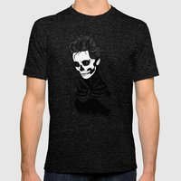 Lady Skull Aztec Mens Fitted Tee Tri-Black SMALL