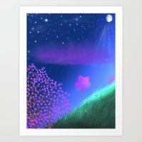 FLOWER IN THE WIND Art Print
