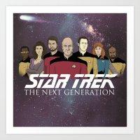 Star Trek: The Next Generation Crew/updated Art Print