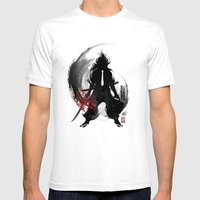 Corporate Samurai Mens Fitted Tee White SMALL