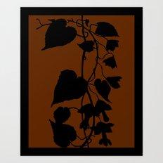 Rhodochiton in Sky Blue - Original Floral Botanical Papercut Design Art Print