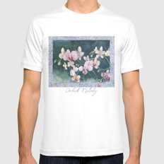 Orchid Melody White Mens Fitted Tee SMALL
