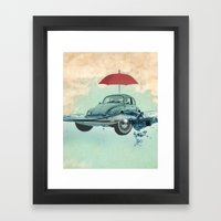 VW Chance of rain in deep water Framed Art Print