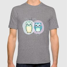 owls Mens Fitted Tee Tri-Grey SMALL