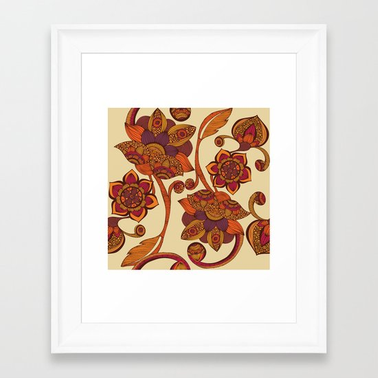 Boho Flowers Framed Art Print