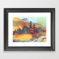 Golden Forest Framed Art Print