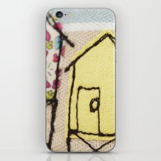 Embroidered Beach huts iPhone & iPod Skin