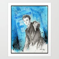 Doctor Who: The 10th Doc… Art Print