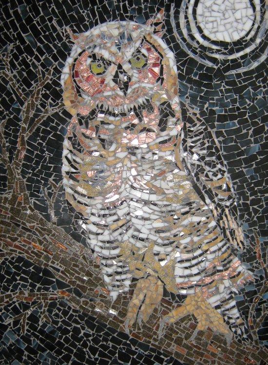Owl Mosaic Art Print