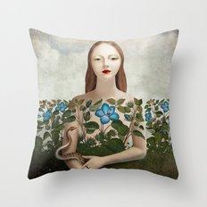 Eva and the Garden  Throw Pillow