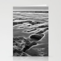 Abstract coastal rock formations in Queensland Stationery Cards