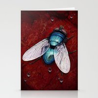 Green Bottle fly Stationery Cards