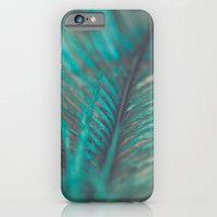 Turquoise Feather Close Up iPhone 6 Slim Case