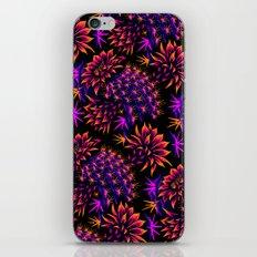 Cactus Floral - Bright Purple/Orange iPhone & iPod Skin