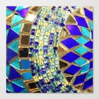 Mosaic And Beads [photog… Canvas Print