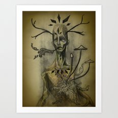 Decaying Deer Spirit Art Print