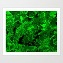 Collage in Green Art Print