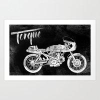 Vintage Torque Cafe Racer Art Print
