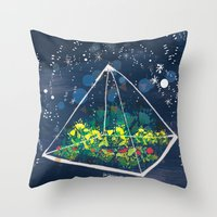 The Greenhouse at Night Throw Pillow