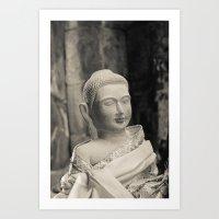 Angkor Vat Statue Art Print
