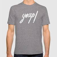 yeap! Mens Fitted Tee Tri-Grey SMALL