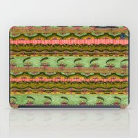 Pink And Green Pattern iPad Case