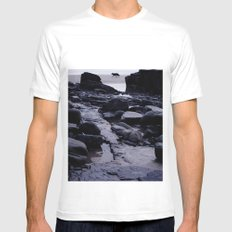 Loner White Mens Fitted Tee SMALL