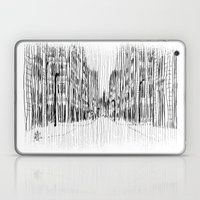 Fog and Rain: Cityscape (WHITEOUT) Laptop & iPad Skin