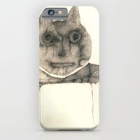 iPhone & iPod Case featuring cat on the table by Attila Hegedus