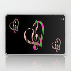 G Clef In Heart  Laptop & iPad Skin
