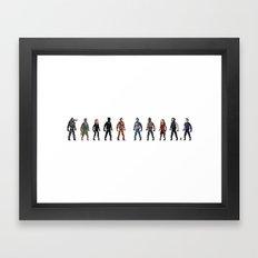 CIVIL WAR Pixels Framed Art Print