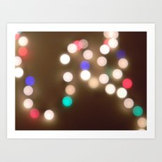 christmas lights are the best. Art Print