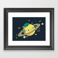 DJ Saturn Framed Art Print