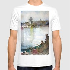 Fishing Mens Fitted Tee White SMALL