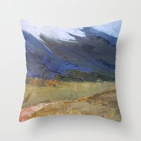 Rolling Storms Throw Pillow