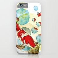 iPhone & iPod Case featuring Koi Fish In Love by Elizabeth Cakovan