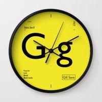 Gill Sans Wall Clock