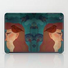 lady with bird iPad Case