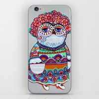 Mexican folk owl iPhone & iPod Skin