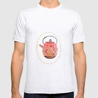Teapot Terrarium Mens Fitted Tee Ash Grey SMALL