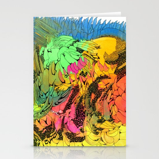 NEON Number 1 Stationery Card