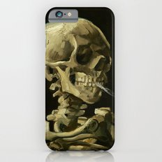 Skull of a Skeleton with Burning Cigarette by Vincent van Gogh iPhone 6 Slim Case