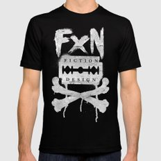Fiction Design SMALL Black Mens Fitted Tee